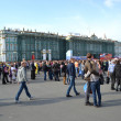 Palace Square on Victory Day — Stock Photo