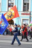 Russian Cossacks on Victory parade — Stock Photo
