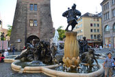 Fountain in Nuremberg — Stock Photo