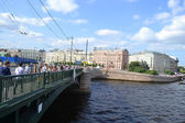 Exchange bridge in St.Petersburg. — Stock Photo