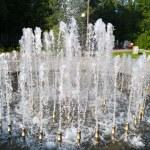 Fountain in city park — Stock Photo