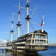 Old frigate in St.Petersburg, Russia — Stock Photo