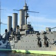 Aurora cruiser museum in St.Petersburg — Stock Photo
