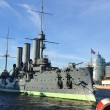Stock Photo: Aurora cruiser museum in St.Petersburg