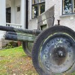 The old cannon from World War II — Stock Photo