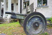 The old cannon from World War II — Stok fotoğraf