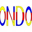 London lettering — Stock Vector