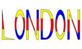 Londen belettering — Stockvector