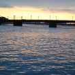 Neva river at sunset — Photo