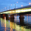 Alexander Nevsky Bridge at night — 图库照片