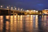 Volodarsky bridge at night — Stock Photo