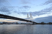 Cable-braced bridge in St.Petersburg. — Stock Photo