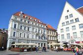 Street in old town in Tallinn — Stock Photo
