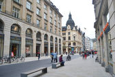 Street in the center of Leipzig — Stock Photo