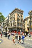 Street in center of Barcelona — Foto Stock