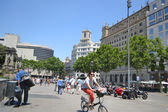 Street in center of Barcelona — Stock Photo