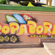 Stock Photo: Graffiti in Calella, Costa-Bravbeach.