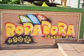 Graffiti in Calella, Costa-Brava beach. — Stock Photo