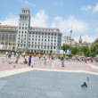 Catalonia Square in Barcelona, Spain. — Stock Photo