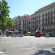 Street in center of Barcelona — Stockfoto