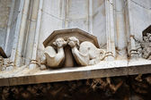 The fragment of cathedral in Girona. — ストック写真