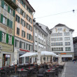Cafe in Lucerne, Switzerland. — Stock Photo