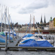 Group of sailboats, Lucerne. — Stock Photo