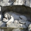 Famous lion monument in Lucerne — Stock Photo
