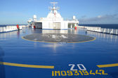 Helipad on the cargo ferry — Stock Photo