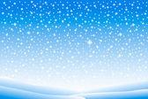 Winterlandschaft mit fallendem schnee — Stockvektor