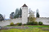 Luzern City Wall with medieval tower — Stock Photo