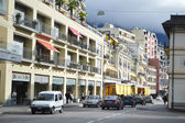 Calle en montreux, suiza — Foto de Stock