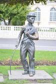 Charlie-chaplin-statue in vevey — Stockfoto