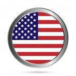 USA flag button. — Stock Vector
