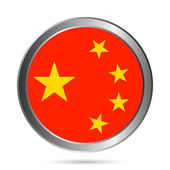 China flag button. — Stock Vector