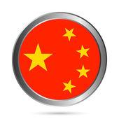 China flag button. — Stock Vector
