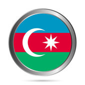Azerbaijan flag button. The colors of original. — Stock Vector