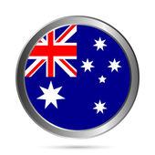 Bouton drapeau australie. — Vecteur