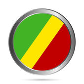 Republic of the Congo flag button — Stock Vector