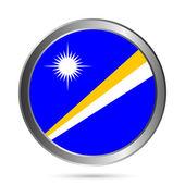 Marshall Islands flag button. — Vector de stock