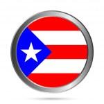 Puerto Rico flag button. — Stock Vector #36679013