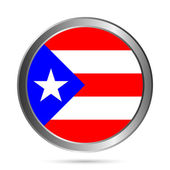 Puerto Rico flag button. — Stock Vector