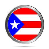 Porto Riko bayrak düğmesini. — Stok Vektör