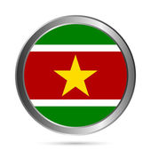 Suriname flag button. — Stock Vector