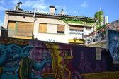 Graffiti on Indian mythology — Stock Photo