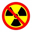 Stock Vector: Prohibition of radiation