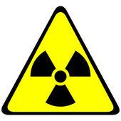Radiation triangular sign — Stock Vector