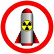 Nuclear power and radiation forbidden — Stock Vector