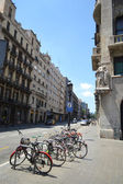 Street in center of Barcelona — 图库照片