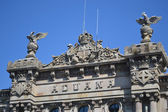 Palace on the embankment in Barcelona — Fotografia Stock
